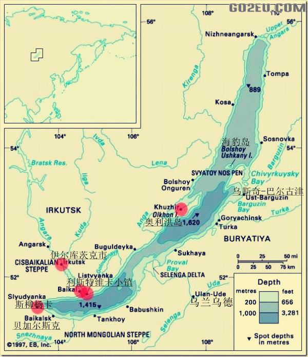 贝加尔湖地图